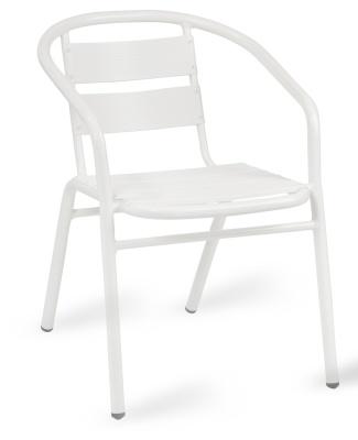 Pandora Outdoor Aluminium Armchair In White