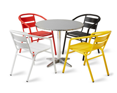 Pandora Coloured Aluminium Armchair Set