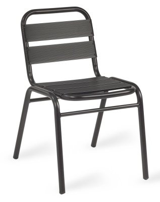 Pandora Black Aluminium Side Chair