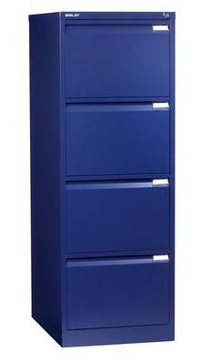 Bisley Four Drawer Filing Cabinet Ibn Oxford Blue