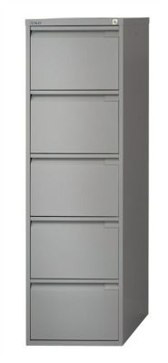 Bisley Four Drawer Filing Cabinet In Goose Grey