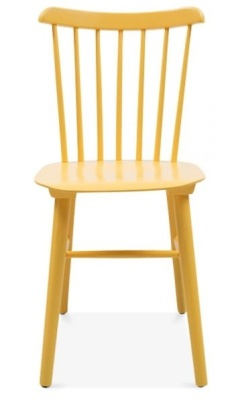 Buckingham Chair In Yellow Front View