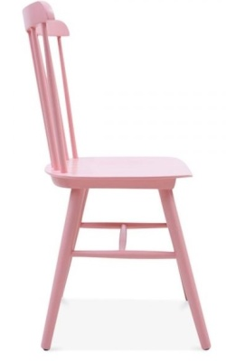 Buckingham Chair In Pink Side View