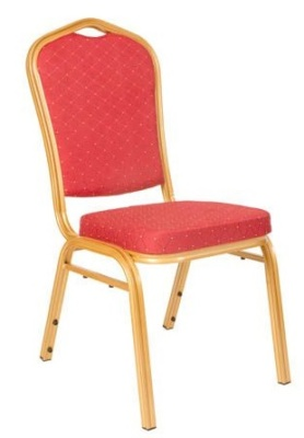 Melbourne Red And Gold Banqueting Chair
