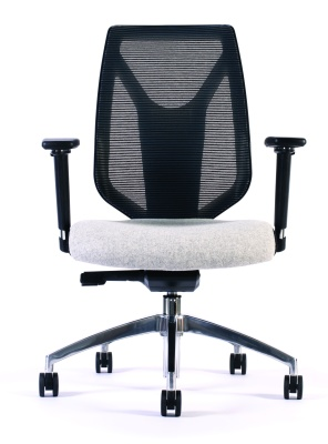 Pulse Mesh Back Chair Without Headrest Front View