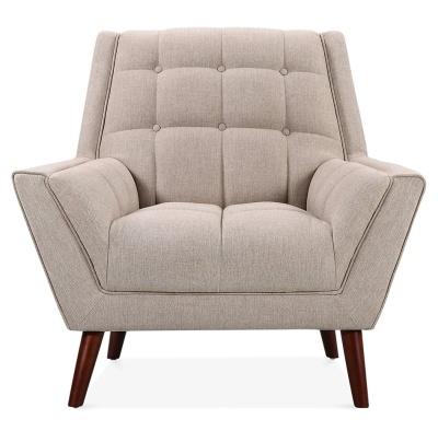 Corina Designer Sofa Single Seater Cream Upholstery