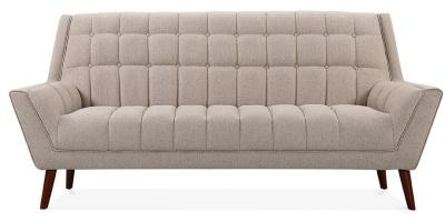 Cortina Three Seater Sofa Front Shot Cream Upholstery