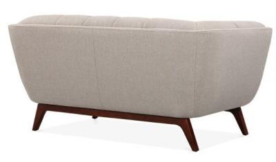 Cortina Sofa Rear Angle Cream Upholstery Two Seater