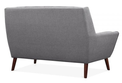 Cortina Two Seater Sofa Rear Angle Smoke Grey