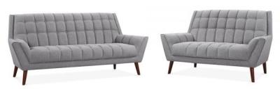 Cortina Sofa Set In Smoke Grey
