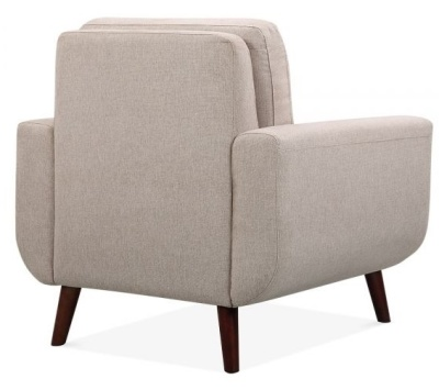 Maxim Designer Armchair Rear Angle Cream Fabric