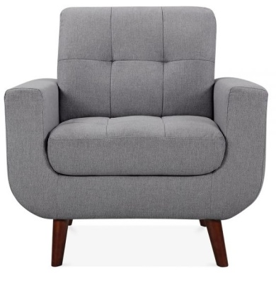 Ma,xim Armchair In Smoke Grey Face Shot