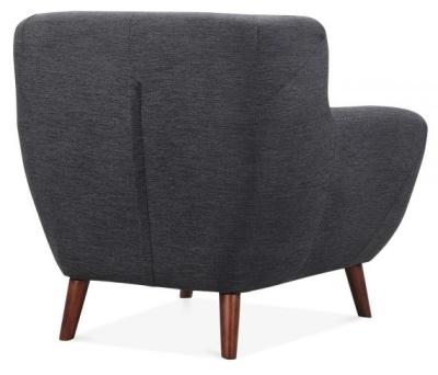 Emily Designer Armchair Dark Grey Fabric Rear View