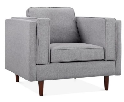 Eddie Deesigner Sofa Smoke Grey Fabric Angle View
