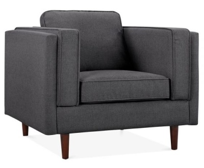 Eddie Designer Armchair Front Angle View