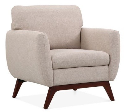 Toleta Armchair Cream Upholstery Angle View