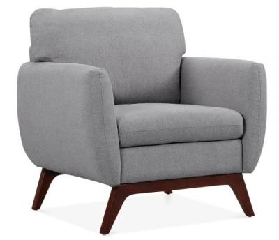 Toleta Armchair Smoke Grey Fabric Angle Shot
