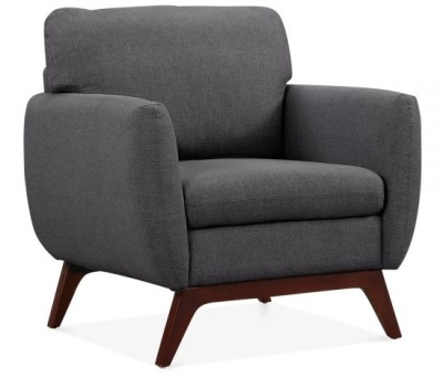 Toleta Armchair Dark Grey Fabric Angle View