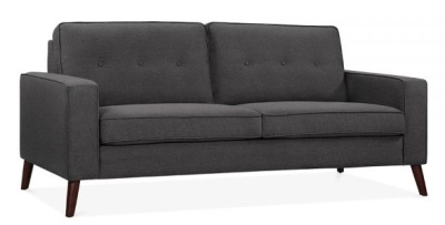 Pimlico Three Seater Sofa Angle View Dark Grey Fabric