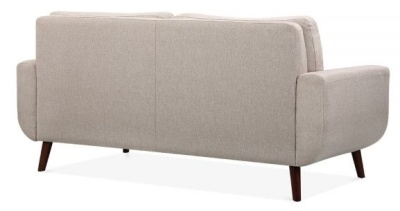Maxim Three Estaer Sofa Rear Angle View Cream Fabric