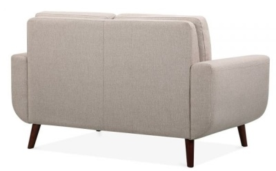Maxim Two Seater Sofa In Cream Rear Angle