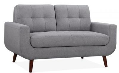 Maxim Two Seater Sofa In Smoke Grey Angle View