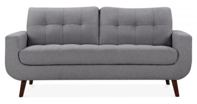 Maxim Three Seater Sofa In Smoke Grey Front Shot