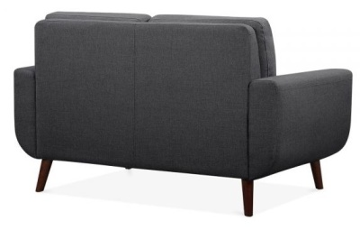 Maxim Two Seater Sofa In Dark Grey Rear Angle View