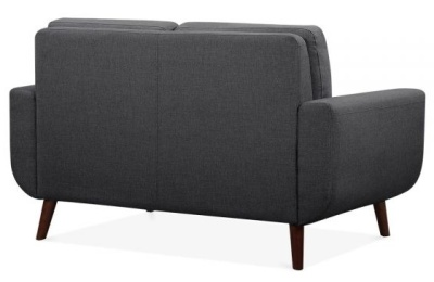 Mexim Three Seater Sofa In Dark Grey Rear Angle