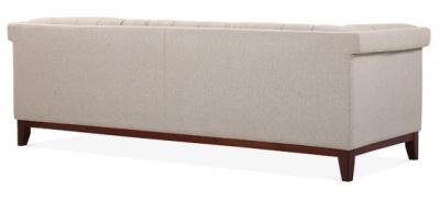 Decor Three Seater Sofa In Cream Rear Angle View
