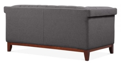 Decor Two Seater Sofa Rear Angle Ie In Dark Grey