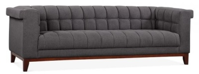 Decor Dark Grey Three Seater Sofa Angkle View