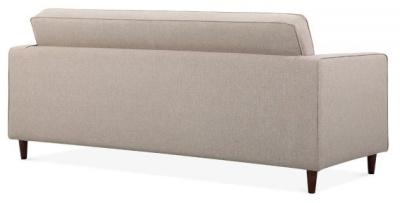 Gustav Three Seater Sofa Rear Angle View Cream Fabric