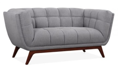 Oboe Two Serater Sofa In Smoke Grey Angle View