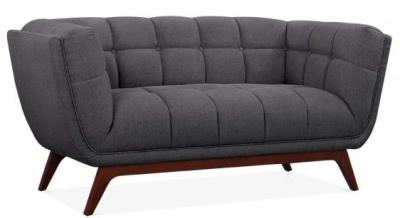 Oboe Two Seater Sofa In Dark Grey Angle View