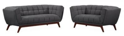 Oboe Sofa Set In Dark Grey 1