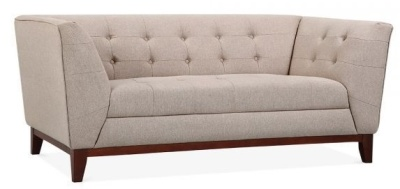Eden Two Seater Sofa In Cream Angle View