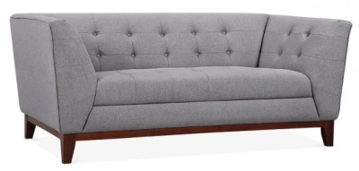 Eden Two Seater Sofa In Smoke Grey Angle View