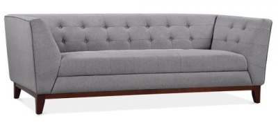 Eden Three Seater Sofa In Smoke Grey Angle View