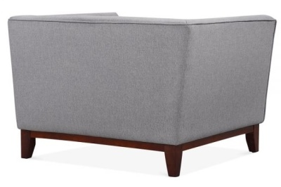 Eden Armchair In Smoke Fabric Rear View