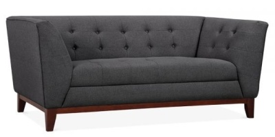 Eden Two Seater Sofa In Dark Grey Angle View