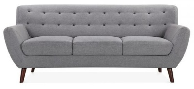 Emily Thre Seater Sofa In Smoke Grey Front View