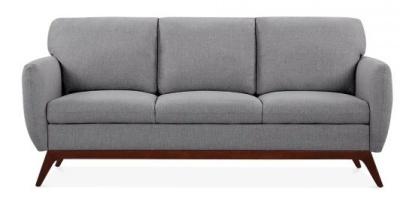 Toleta Three Seater Sofa In Smoke Grey Front Shot