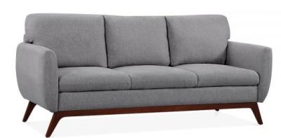 Toleta Thre Seater Sofa In Smoke Grey Angle View