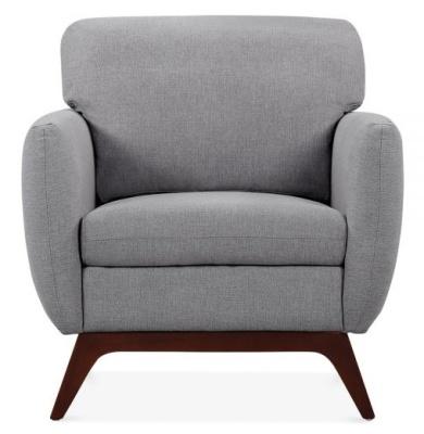 Toleta Armchair In Smoke Grey Front View