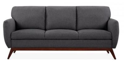 Toleta Three Seater Sofa In Dark Grey Front Shot