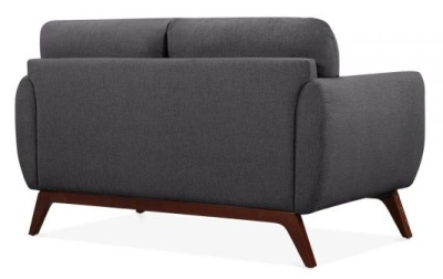 Toleta Two Seater Sofa In Dark Grey Rear View
