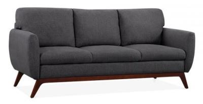 Toleta Three Seater Sofa In Dark Grey Angle View