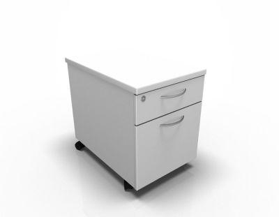 2 Drawer Mobile Pedestal White