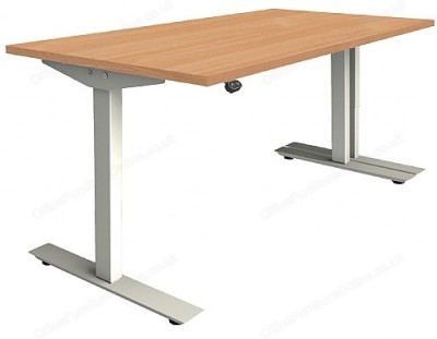 Abacus Sit Stand Desk In Beech